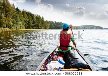 Teenagers canoeing Stock photo © photography33