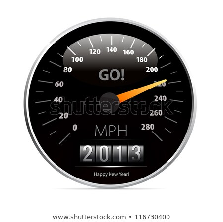 speedometer with 2013 counter in vector Stock photo © m_pavlov