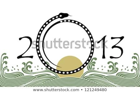 serpent · symbole · 2013 · année · papier · design - photo stock © sahua
