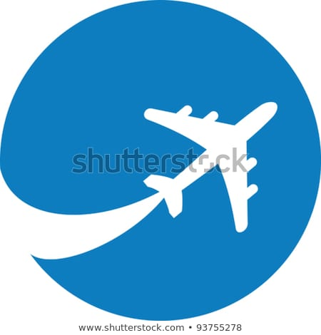 Travel icons in color circles Stock photo © lkeskinen