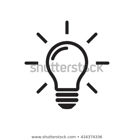 villanykörték · szett · ikonok · lámpa · fekete · erő - stock fotó © timurock