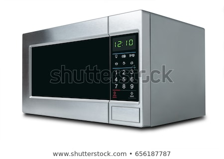 stylish microwave oven isolated on white background stock photo © ozaiachin