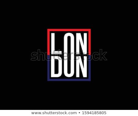 ストックフォト: ロンドン · 印刷 · アイコン · 建物 · 橋 · ヨーロッパ