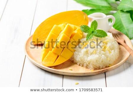thai · dessert · dolce · latte · di · cocco · banana · foglia - foto d'archivio © yuliang11