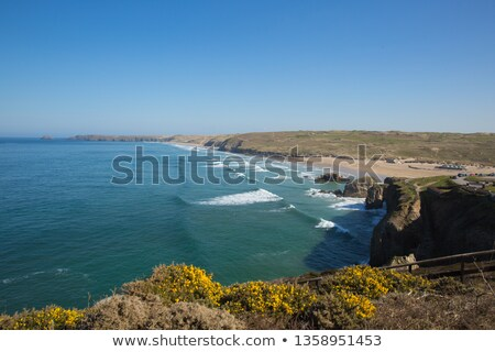 Plage vagues cornwall Angleterre mer océan Photo stock © latent