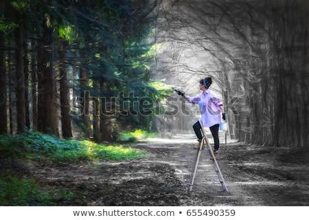 control · vida · colorido · palabras · pizarra - foto stock © Ansonstock