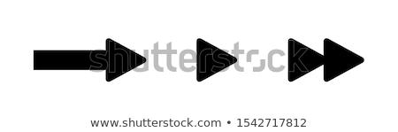 Nyíl korábbi háló interfész ikon fehér Stock fotó © make