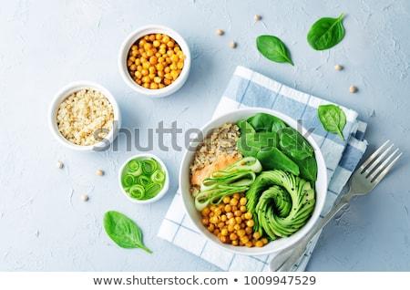 épinards · avocat · salade · saine · séché - photo stock © designsstock