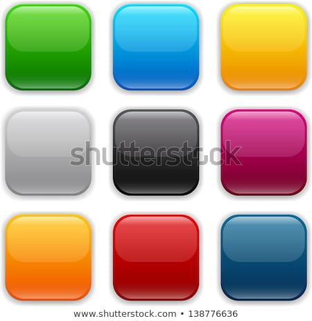 Foto stock: Aplicativo · botões · conjunto · reflexão