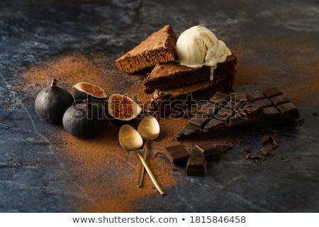 marble cake and ice cream stock photo © badmanproduction