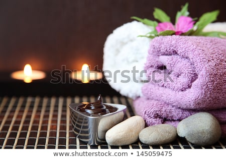 Spa Schokolade Aromatherapie Schönheit entspannen weiß Stock foto © joannawnuk