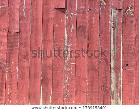 サイド 風化した 納屋 クローズアップ 赤 バーモント州 ストックフォト © DonLand