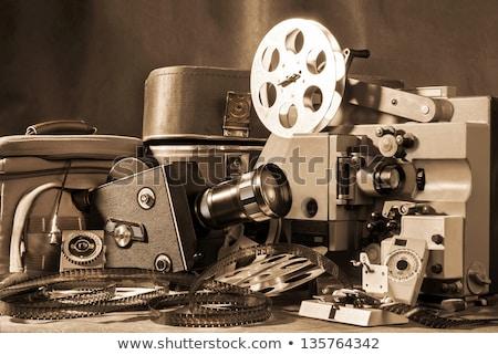 old vintage cine camera stock photo © deyangeorgiev