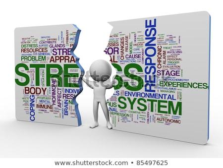 stressz · szófelhő · illusztráció · szófelhő · egészség · háló - stock fotó © dacasdo