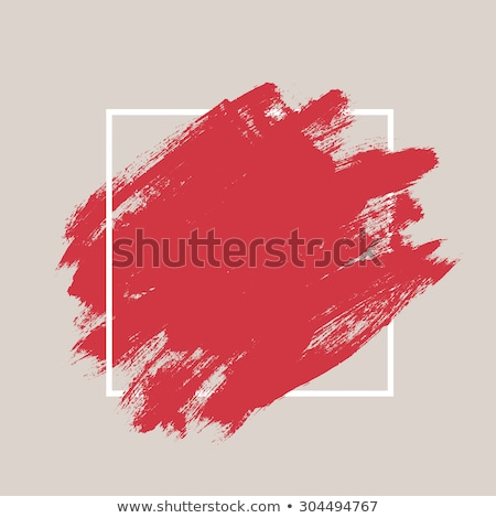 Gouache paint  and brush Stock photo © taden