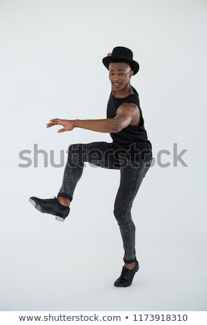 Csap táncos farmernadrág cipők lépcső fehér Stock fotó © forgiss