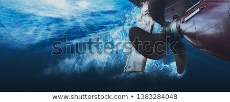 プロペラ 真鍮 ボート 青 金属 新しい ストックフォト © Stocksnapper