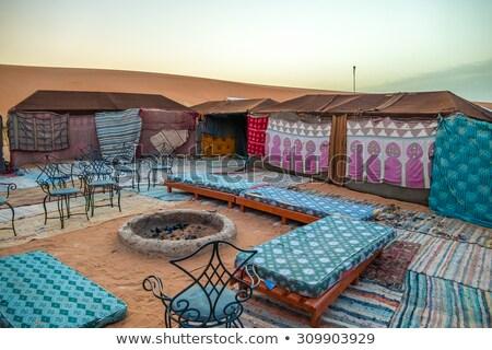 Nomadic tent camp  Stock photo © Hofmeester