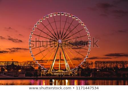 tourner · grande · roue · photos · beaucoup · lumières · lumière - photo stock © jakatics