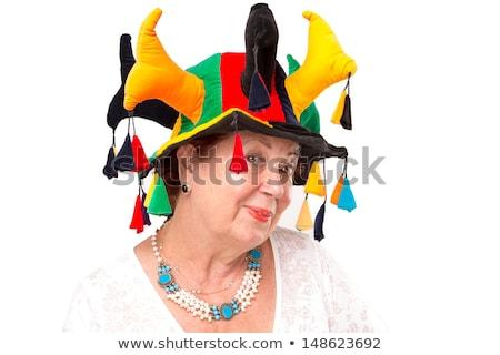 Senior Lady with Jester's Hat Stock photo © ozgur