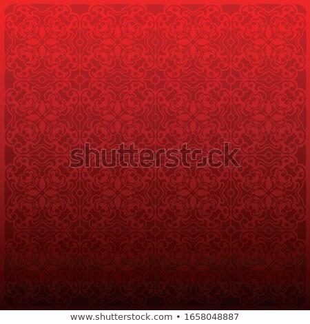 Red damask brocade fabric Stock photo © Anterovium