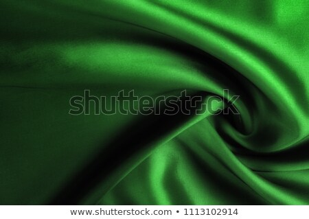 Stock photo: Green satin textile