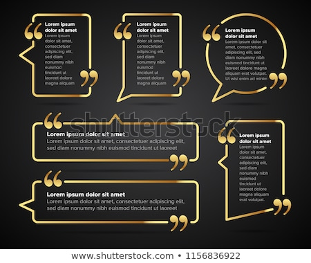 Set of golden speech bubbles labels tags Stock photo © adrian_n
