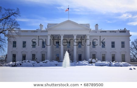 A casa branca fonte neve Pensilvânia Washington DC Foto stock © billperry