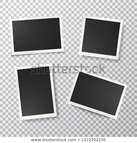 Filme polaroid isoliert weiß schwarz Stock foto © kenishirotie