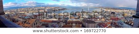 Genova város panoráma Svájc hdr gyönyörű Stock fotó © Elenarts