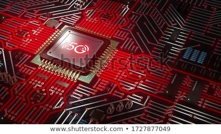 számítógép · chip · mikrocsip · illusztráció · 3d · illusztráció · technológia - stock fotó © camel2000