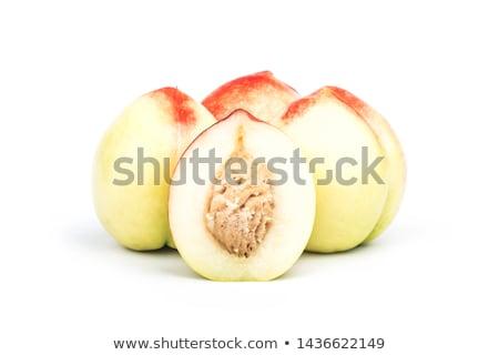 Nektarin gyümölcs izolált fehér kivágás étel Stock fotó © natika