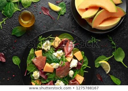Sonka dinnye saláta balzsam csökkentés Stock fotó © Donvanstaden