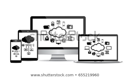 Computer display with modern vector background Stock photo © MPFphotography