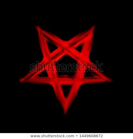 Krwi demon chmury usta zło Zdjęcia stock © blamb