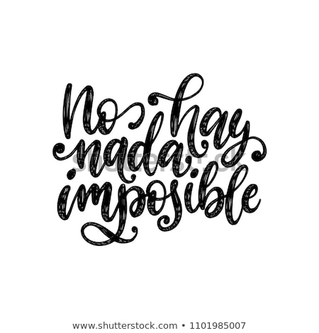 Hiçbir şey motivasyon poster mozaik kâğıt soyut Stok fotoğraf © maxmitzu