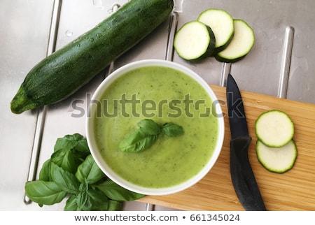 цуккини суп растительное столовой диета чаши Сток-фото © M-studio