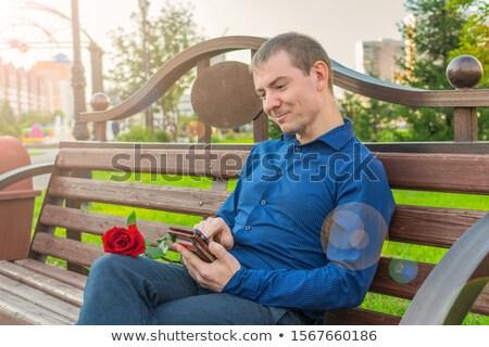 Cavalheiro terno negócio sorridente modelo arte Foto stock © feelphotoart
