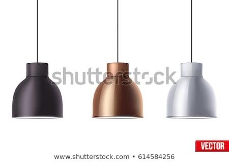 Klasszikus villanykörte fény akasztás plafon stock Stock fotó © nalinratphi