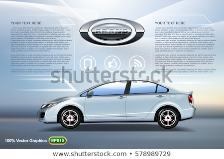 Abstract blue background with car sedan image. Vector illustrati Stock photo © leonido