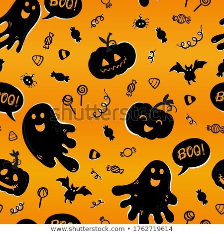 бесшовный · текстуры · иллюстрация · Хэллоуин · лице - Сток-фото © voysla