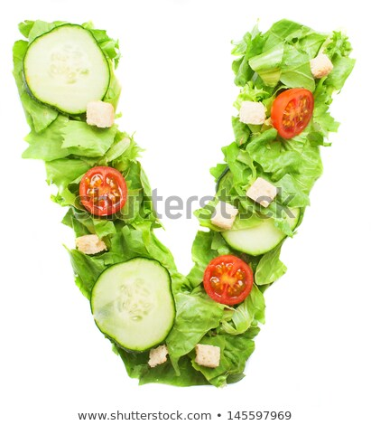 The letter 'V' made out of vegetables Stock photo © gemenacom