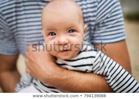 Père fille aire de jeux famille escalade jouer Photo stock © Kzenon
