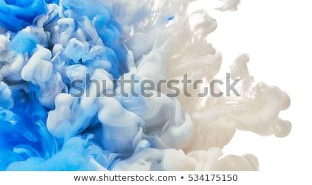 Soyut dizayn bulutlar merdiven mavi iş Stok fotoğraf © olgaaltunina