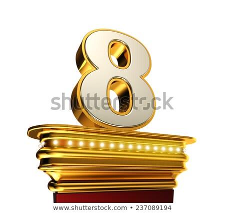 числа восемь белый блестящий Сток-фото © creisinger