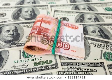 öt ezer orosz dollár tekert cső Stock fotó © Valeriy