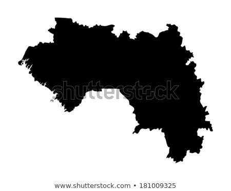 силуэта карта Гвинея знак белый Сток-фото © mayboro