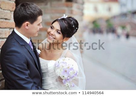 笑顔 花嫁 新郎 楽しい 再生 アップ ストックフォト © mikhail_ulyannik