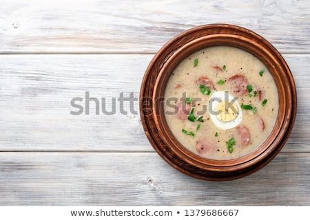 Centeio sopa páscoa cozinha tabela Foto stock © Dar1930
