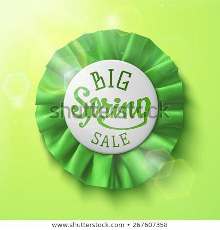 groot · voorjaar · verkoop · label · banner - stockfoto © marinini
